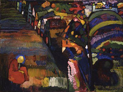 'Pintura con casas', de Vasili Kandinsky (1909).