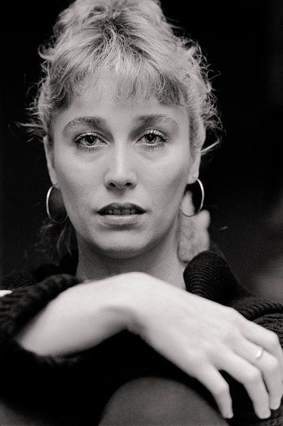Retrato promocional de Veronica Forqué en 1985.