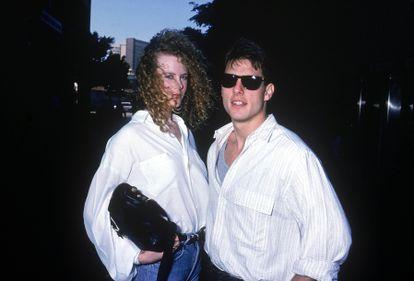 La pareja de los noventa: Nicole Kidman y Tom Cruise posan en 1990.