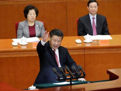 El presidente chino, Xi Jinping, durante un discurso en Pekín el pasado 11 de noviembre.