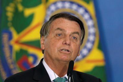 El presidente de Brasil, Jair Bolsonaro, este martes en el Palacio del Planalto en Brasilia, Brasil.