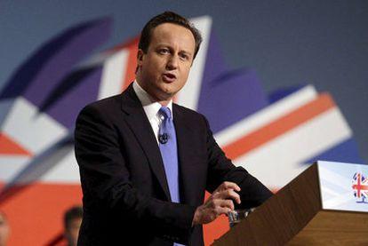 David Cameron, durante su discurso en el congreso anual de los conservadores, en Birmingham.
