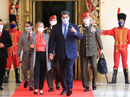 Nicolás Maduro, el miércoles antes de una conferencia de prensa, en Caracas.