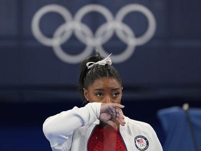 La deportista Simone Biles.