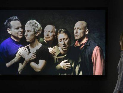 La videocreación 'El quinteto de los sobrecogidos', de Bill Viola (2000), que puede verse en la exposición de La Pedrera.