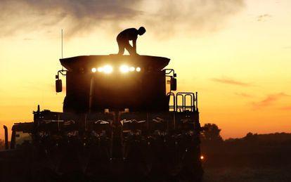 Agricultor de Pleasant Hills, Illinois.