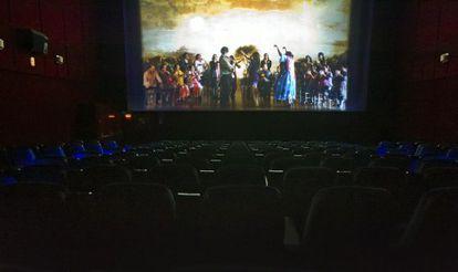 Una sala de cine vacía en Málaga.