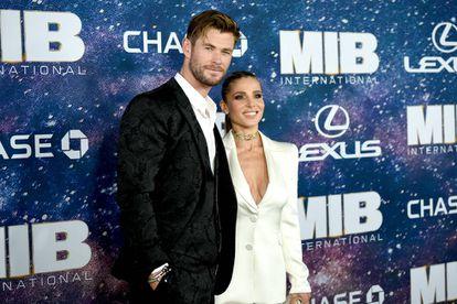 Chris Hemsworth y Elsa Pataky en el estreno de 'Men in Black International' en Nueva York en 2019.