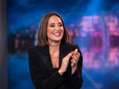 Tamara Falcó durante una de sus intervenciones en televisión.