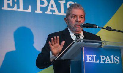 Lula en el evento de El País