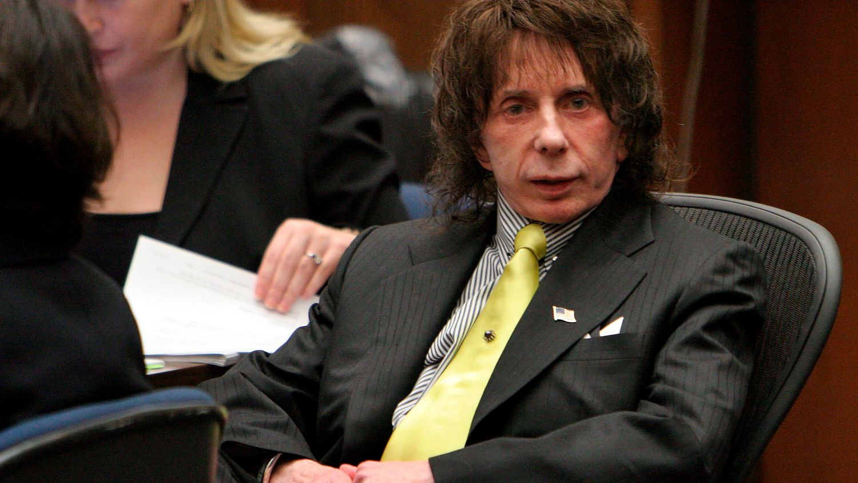 Spector, en una de las sesiones del juicio por asesinato.