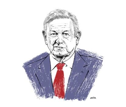 Ilustración del presidente de México, Andrés Manuel López Obrador.