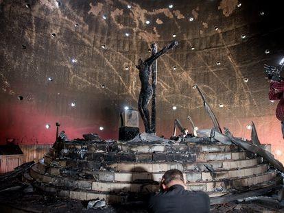 La capilla de la Catedral Metropolitana tras el ataque.