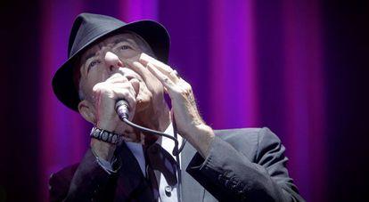 Leonard Cohen durante su concierto en Madrid en 2012.