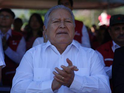 El expresidente Salvador Sánchez Cerén, en una imagen de febrero de 2019.
