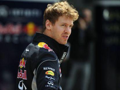 Vettel, en el circuito de Shanghái.
