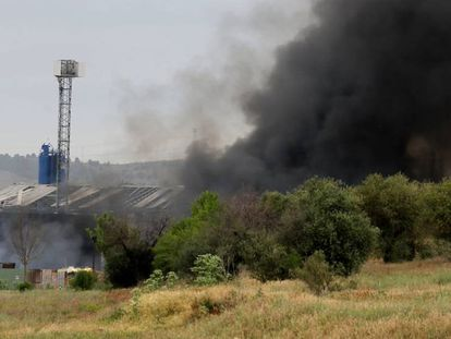 Explosión en una planta de residuos de Arganda.