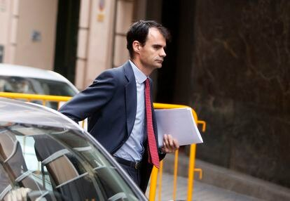 El juez Pablo Ruz, en las inmediaciones de la Audiencia Nacional en 2014.