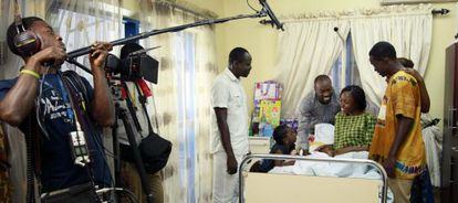 Una grabación de Nollywood, la pujante industria cinematográfica nigeriana.