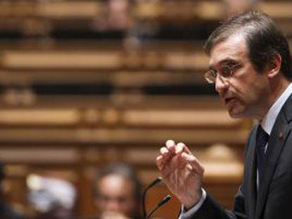 Passos Coelho durante una intervención en el Parlamento.
