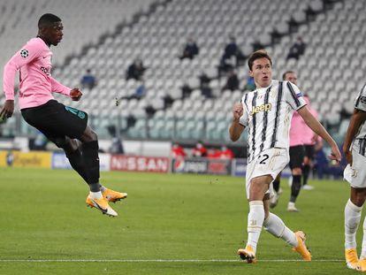 Dembélé, en la acción del 0-1.
