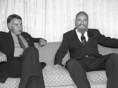 González y Castro en una cumbre Iberoamericana, en Argentina (1995).