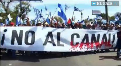 En diciembre de 2014 miles se manifestaron en Managua contra el proyecto.