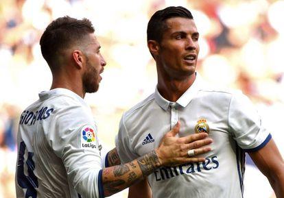 Sergio Ramos y Cristiano Ronaldo.
