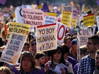 Una manifestación en Madrid contra la violencia machista.