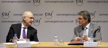 Josep Antoni Duran y Artur Mas, en la reunión de la Comisión Ejecutiva de CiU.