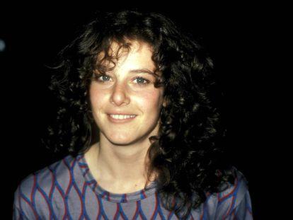 Debra Winger fotografiada en un rodaje en Los Ángeles en 1981.