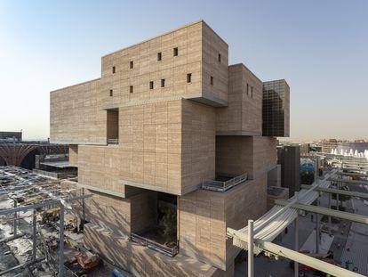 Pabellón de Marruecos en la Expo Universal de Dubai, hecho con tierra cruda, material africano, en vez de hormigón.