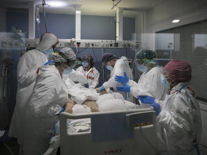 La UCI covid del hospital del Mar de Barcelona