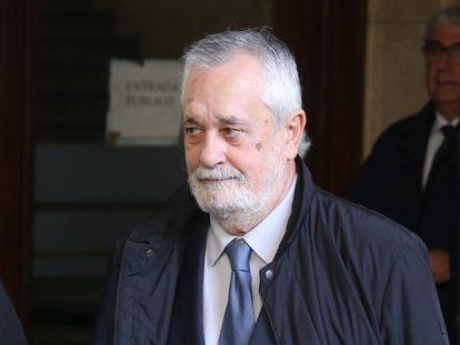 José Antonio Griñán sale de la Audiencia Provincial de Sevilla el día que fue notificado de sentencia de los ERE.