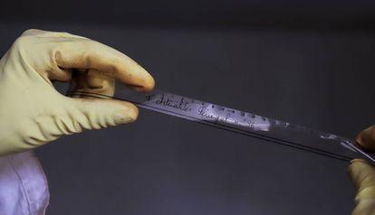 Una de las películas rescatadas por el laboratorio.
