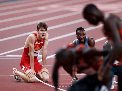 Adrián Ben, tras concluir quinto la final de los 800 metros.