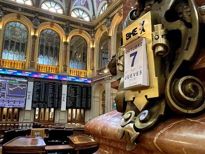 Interior de la Bolsa de Madrid, el pasado jueves.