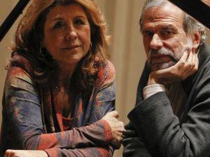 Los pianistas Josep Colom y Carmen Deleito.