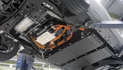 Baterías de un coche eléctrico.