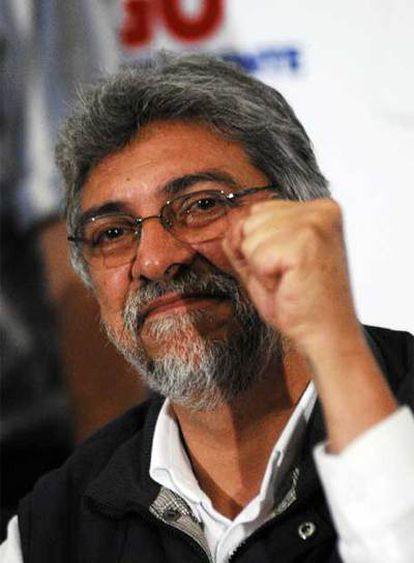 Fernando Lugo, presidente electo de Paraguay, el domingo.
