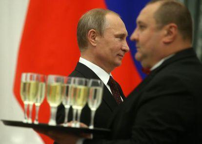 El presidente ruso, Vladímir Putin, durante una recepción en el Kremlin el 31 de julio.