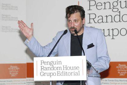 El escritor Ray Loriga, hoy viernes en la entrega del Premio Alfaguara de Novela.