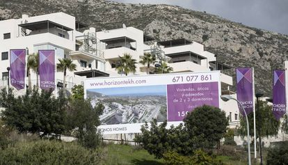 Promoción de viviendas en una urbanización de Benalmádema (Málaga).
