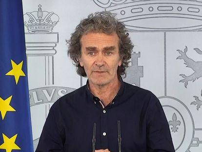 Fernando Simón, durante su comparecencia de este miércoles para informar sobre la crisis del coronavirus.