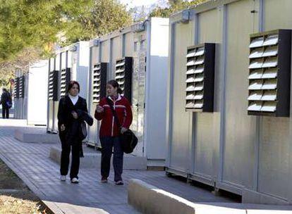 La Universidad de Alicante instaló este curso barracones para atender la demanda del curso pedagógico.