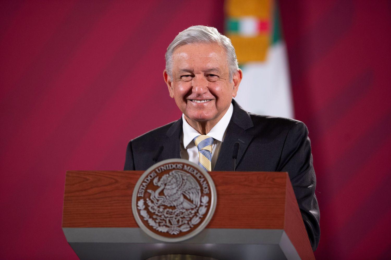 Andrés Manuel López Obrador durante su conferencia de prensa matutina, en Palacio Nacional en Ciudad de México.