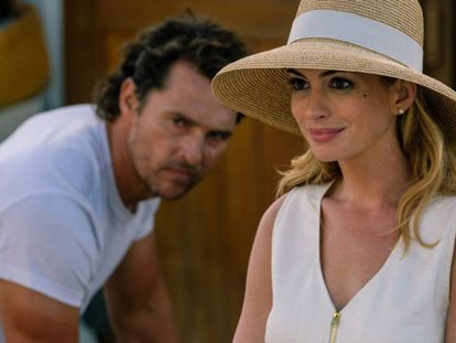 Matthew McConaughey y Anne Hathaway, en 'Serenity'.