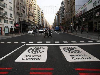 Zona de Madrid Central, que va a ser renovada por el Ayuntamiento de Martínez Almeida.