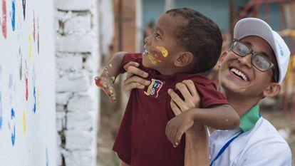 El venezolano Yvan Colina, trabajador de Horizontes de Juventud en Cúcuta (Colombia).