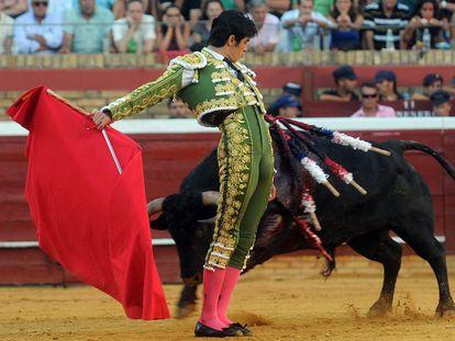 El diestro Miguel Ángel Perera, en la plaza de Toros de Las Ventas en 2019.